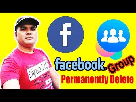 How to delete Facebook group [Manas Tech]