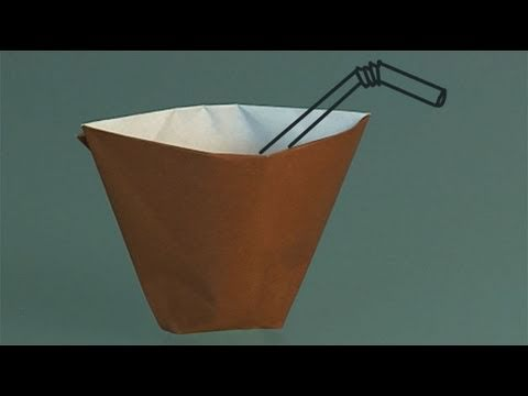 Learn origami, how to make a paper cup