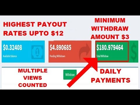 Highest Payout Rate Shortner Website 2018 With PayPal and Paytm Payments Proof