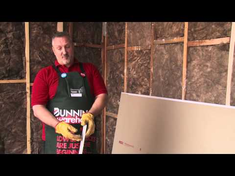 How To Plasterboard A Stud Wall - DIY At Bunnings