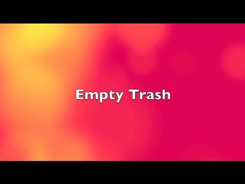 Empty Trash on Mac (Shortcut)