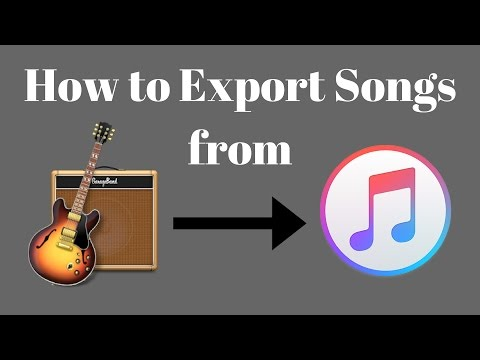 How to Export Songs from Garageband to iTunes