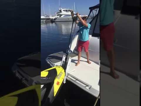 Hurley H3O Davit and Sea Doo Spark Jet Ski