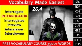 26 4 interrogate interrogator interrogatee interview interviewerinterviewee meanings in Hindi by Pun