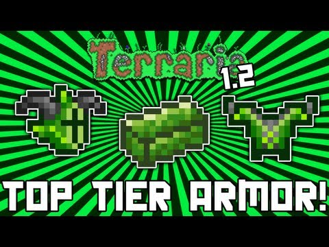 Terraria 1.2: Chlorophyte Armor (Crafting Guide / Overview) @demizegg