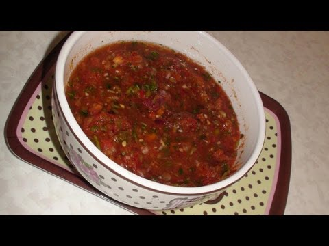Homemade Salsa -Video Recipe - Quick & Easy Salsa from Bhavna's Kitchen!