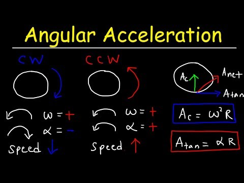 Angular Acceleration Physics Problems, Radial Acceleration, Linear Velocity