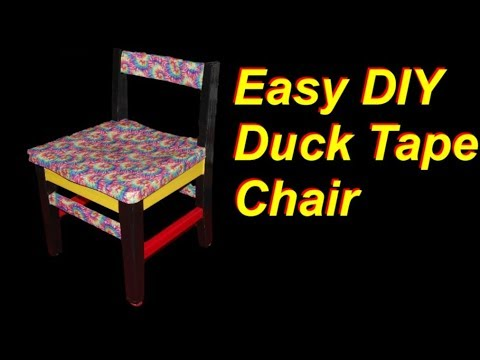 Easy DIY Duck Tape Chair