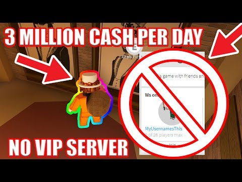 NO VIP Server] FASTEST WAY to GET JAILBREAK CASH   Roblox