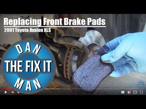 2001 Toyota Avalon - Replacing Front Brake Pads DIY
