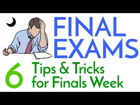 Finals Week! - 6 Study Tips & Tricks