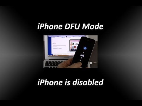 iPhone DFU Mode - iPhone is disabled