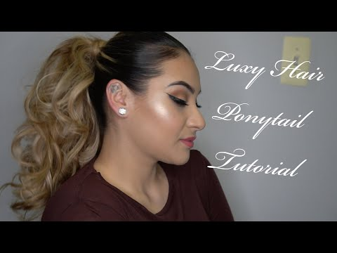 High Ponytail Using Luxy Hair Extensions |Glammedbyjocey|