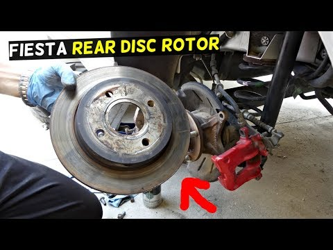 FORD FIESTA REAR BRAKE DISC ROTOR REPLACEMENT MK7 ST