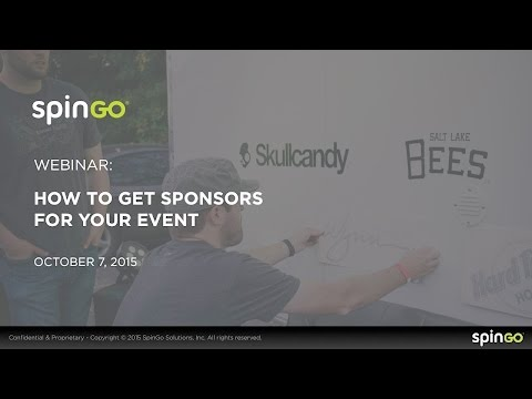SpinGo Webinar - How to Get Sponsors for Your Event