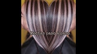 Mechas Parciales Con Color Base Paso A Paso/partial Highlights And Color Step By Step