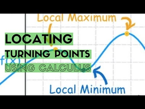 Finding Turning Points Using Calculus