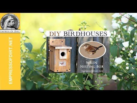 Make a Wren Nesting Box: Free Birdhouse Instructions
