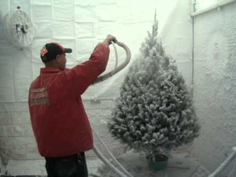 Flocking Christmas Trees