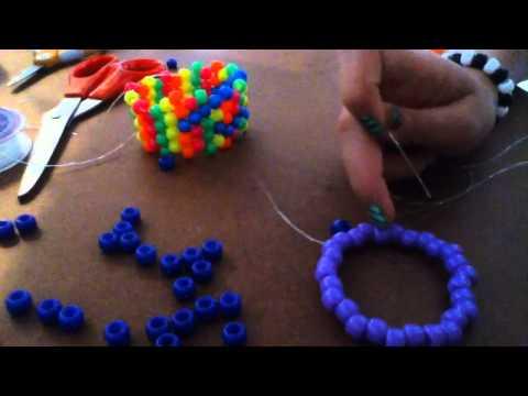 How to make a kandi RAINBOW CUFF pt. 1