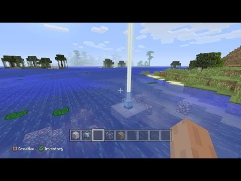 Minecraft: PS4 & Xbox One Edition - How to Make an Underwater Beacon Glitch