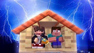 Minecraft: DESAFIO DA BASE 100% SEGURA CONTRA TEMPESTADE DE RAIOS ‹ JUAUM ›