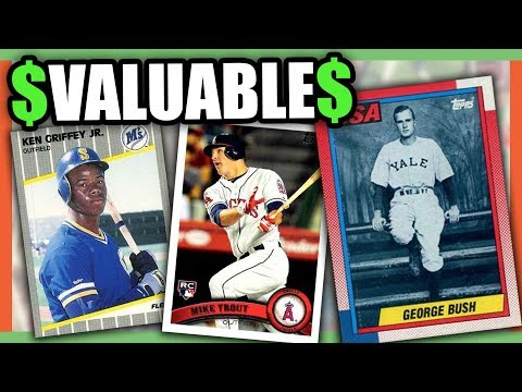 10 EXPENSIVE BASEBALL CARDS WORTH MONEY - VALUABLE BASEBALL CARDS TO LOOK FOR!!