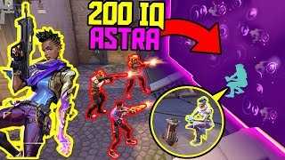 THE POWER OF ASTRA - Best Tricks & 200 IQ Outplays - VALORANT