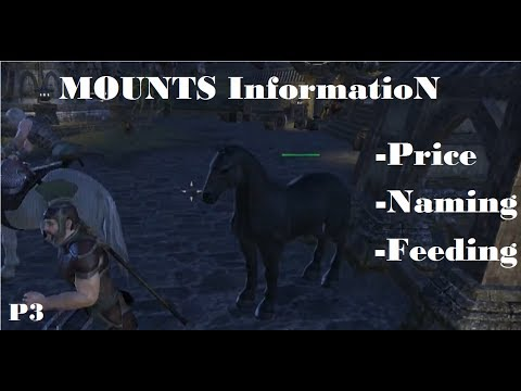 ESO - MOUNTS Information - Prices - Names - Leveling a Mount - Feeding a Mount - ect..