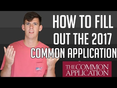 HOW TO FILL OUT THE COMMON APPLICATION