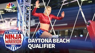 Jessie Graff at the Daytona Beach Qualifiers - American Ninja Warrior 2017