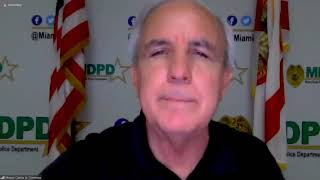 Mayor Carlos A. Gimenez addresses the community as protests continue across South Florida