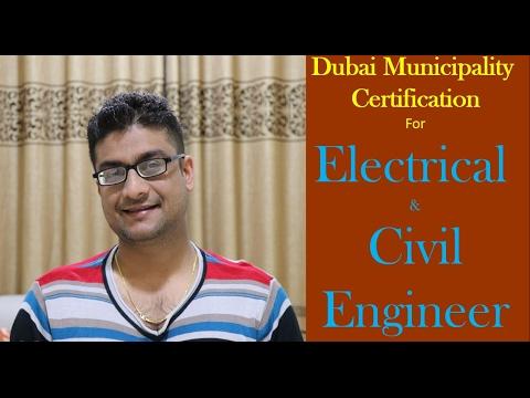 Dubai Municipality Certification for Electrical & Civil Engineer