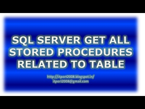 SQL Server Get All Stored procedure related to Table