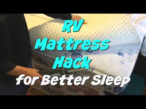 RV Mattress Hack | Comfortable Bed for Less Money