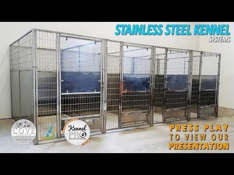 K9 Kennelstore Stainless Steel Dog Kennels