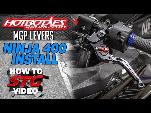 Hotbodies Kawasaki Ninja 400 MGP Levers Install | Sportbike Track Gear