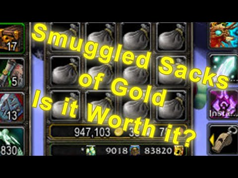 Opening 200 Smuggled Sacks of Gold - Garrison Trading Post Gold Guide [World of Warcraft Gold Guide]