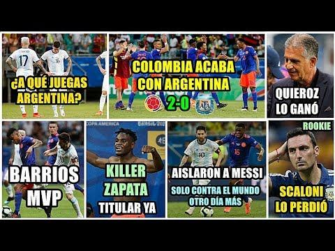 Xxx Mp4 COLOMBIA GANA A ARGENTINA 2 0 AISLARON A MESSI BARRIOS MVP ¡ZAPATA TITULAR MAL SCALONI 3gp Sex