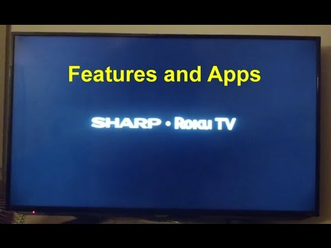 Sharp / Roku TV options, apps, and more. How to video. - VOTD