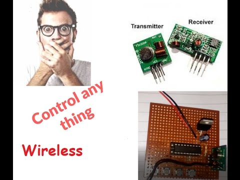 how to make  a RF transmitter and receiver circuit by electronics projects