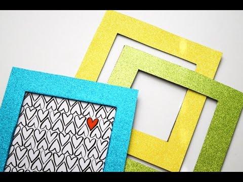 {DIY} Glitter Frame | Cardboard