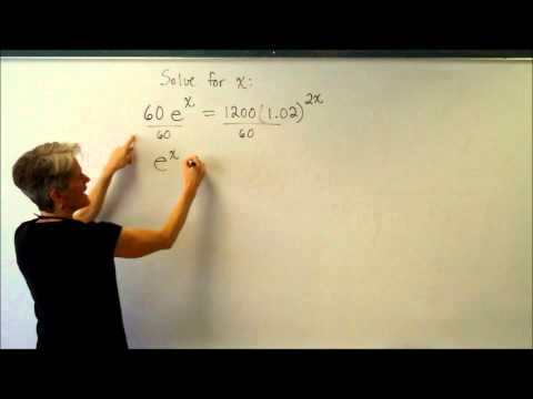 Solving Exponential Equations Using Log and LN