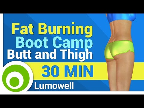 Fat Burning Cardio Exercises - Boot Camp Butt and Thigh Workout