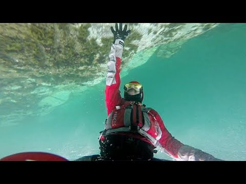 Man Casually Kayaks Under The Water