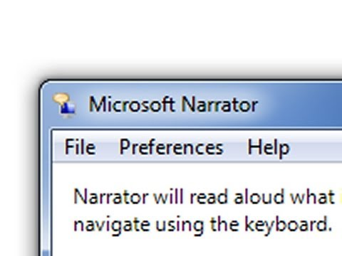 How to turn off narrator in Windows 7 (screen reader)