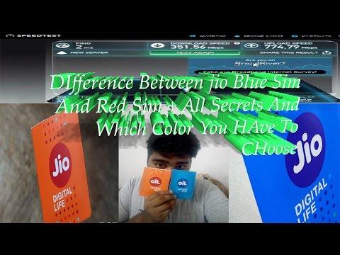Difference between Blue & Orange JIO SIM
