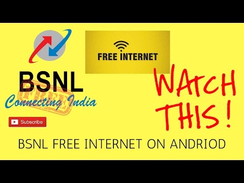 BSNL free 3G/2G/bsnl free internet/free internet on bsnl sim/how to use free internet