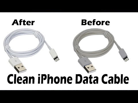 How to Clean/Whiten Your iPhone Lightning/Charging Cable?