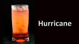 How to make a Hurricane Cocktail Drink Recipe from American Bartending School.  More drink recipes and cocktail drink videos from bartender mixologist at http://barbook.com/drink-recipes